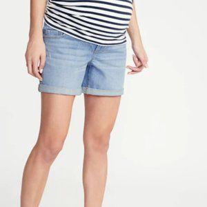 NWT Old Navy Maternity Boyfriend Shorts size 10